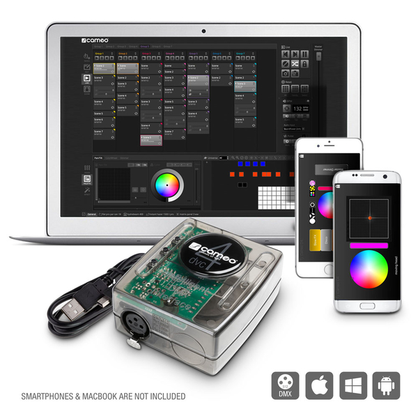 Cameo DVC 4 512-Kanal DMX-Interface und Steuersoftware