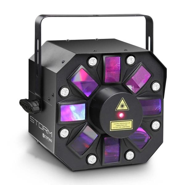 Cameo STORM 3in1 Lichteffekt 5x3W RGBAW Derby Strobe und Grating Laser