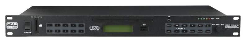 DAP-Audio CDR-110 MKIV 1U CD Player / USB Recorder
