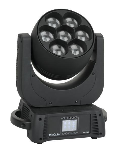 Infinity iW-740 RDM RGBW Wash, Electronic Zoom