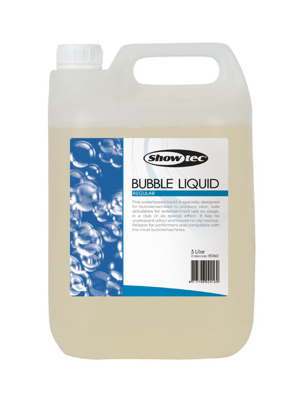 Showtec Bubble Liquid 5 Liter, Ready To Use