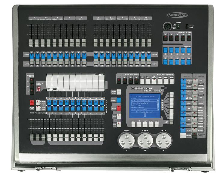 Showtec Creator 1024 PRO Moving Light Controller incl flightcase