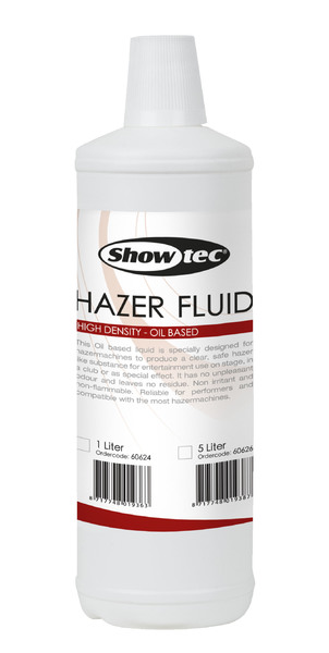 Showtec Hazer Fluid 1 Liter, Oil Based