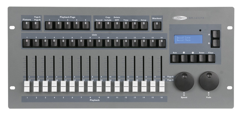 Showtec SM-16/2 FX 32 Channel Lighting Desk with Shape Engine